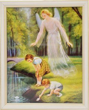 capax-dei-obraz-aniol-stroz-dzieci-nad-woda-biala-ramka